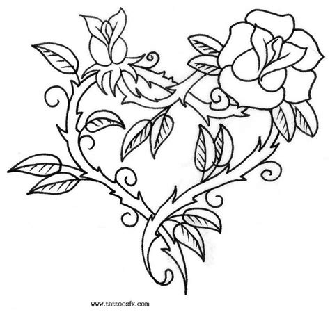 heart with vines tattoo design free designs of flowers gallery tattoomagz