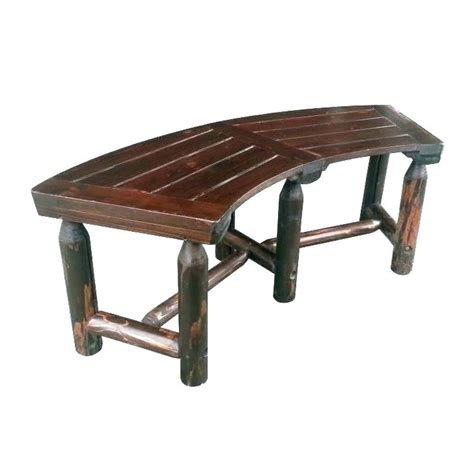 outdoor  bench seating curved small patio