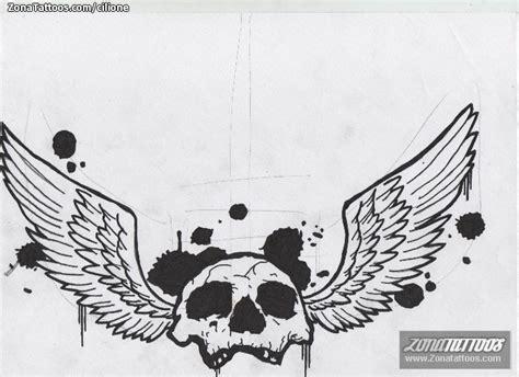 imagenes de calaveras con alas plantilla dise 241 o tatuaje de cilione calaveras alas