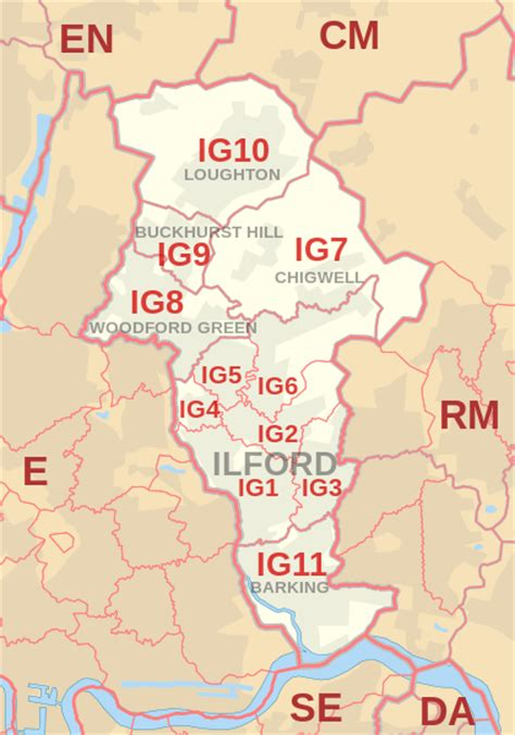 what us area code is 420 file ig postcode area map svg wikimedia commons