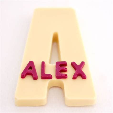 personalised chocolate letters by fingerprints gifts