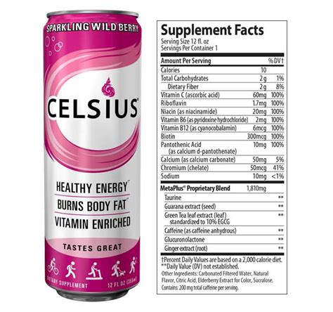 5 energy drink ingredients celsius energy drink review ingredients caffeine side