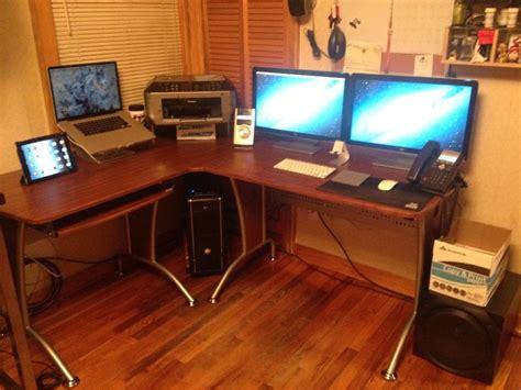 dual monitor computer desk dual monitor computer desk desk