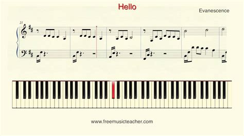 how to play keyboard a how to play piano evanescence quot hello quot piano tutorial by