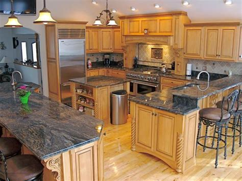 Modern Luxury Kitchen With Granite Countertop Granite Countertops Adding Practical Luxury To Modern Kitchen Designs