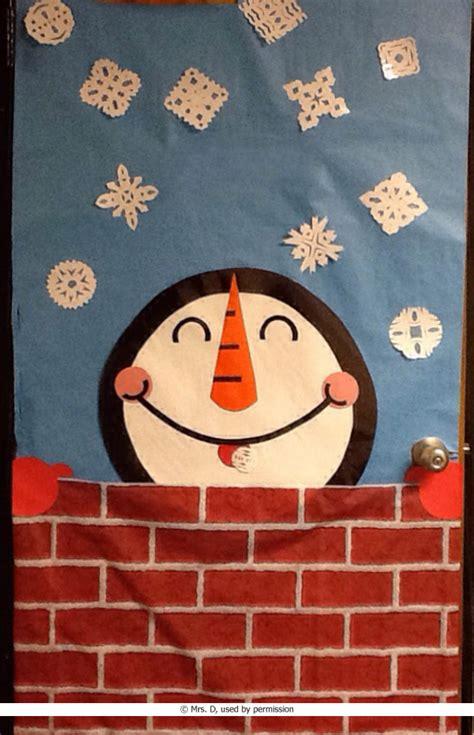 snowman classroom door decoration