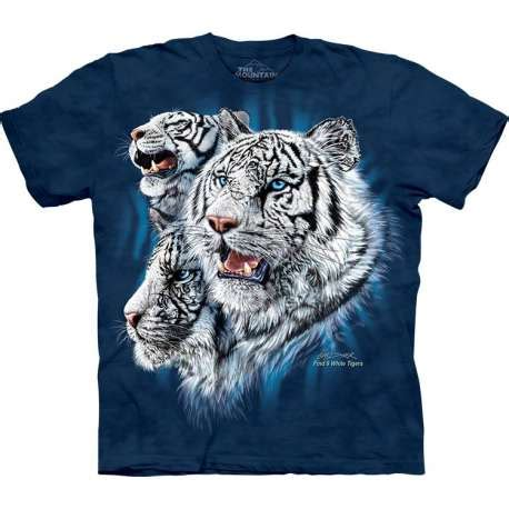 713252 The Mountain Sweater White Tiger Crew Neck the mountain find 9 white tigers t shirt clothingmonster