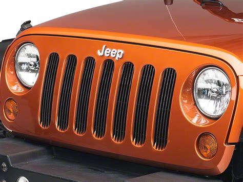 black grill inserts jeep wrangler redrock 4x4 wrangler black billet grille inserts j40009