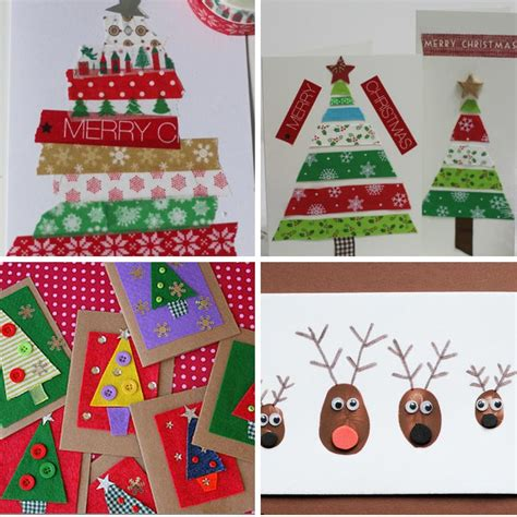 adorable homemade christmas cards for kids to make just