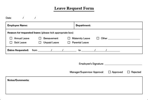 Leave Application Form Template by Simple Leaves Application Form Template Excel Template