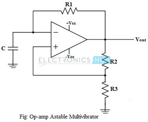 voltage across capacitor in astable multivibrator non linear op circuits zero crossing detector