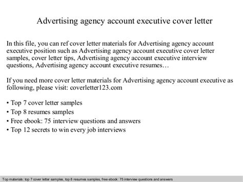 Agency Account Manager Cover Letter by Advertising Agency Account Executive Cover Letter