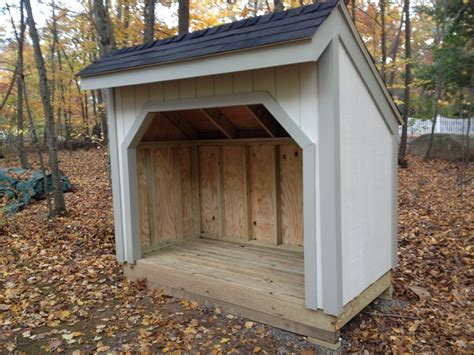 firewood shed built  madison connecticut