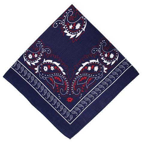 lucky sunday rawis square navy navy blue paisley cotton handkerchief square extras