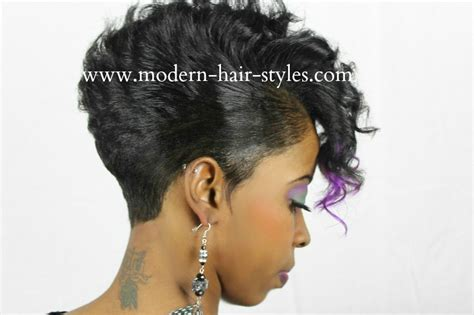 different styles of wrappin mohawk black hair hairstyles of short razor cuts quick weaves
