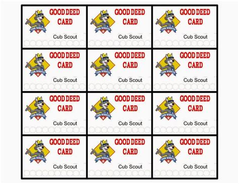 cub scout advancement card templates cub scouts positive behavior reward ideas and free