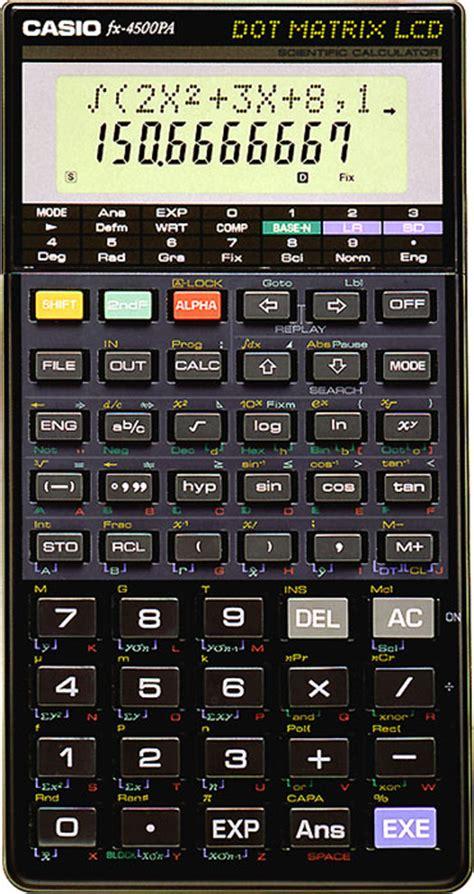 Kalkulator Casio Fx4500 up fx 4500pa products casio wew worldwide