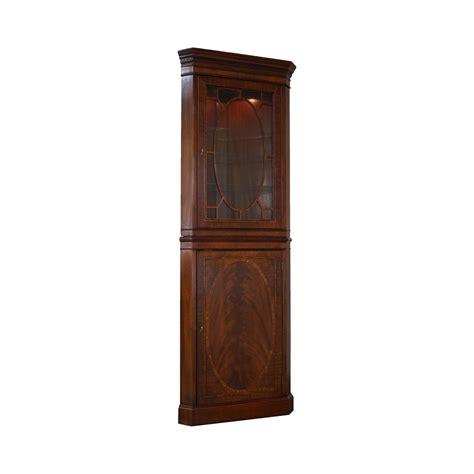 mahogany narrow inlaid federal corner cabinet chairish
