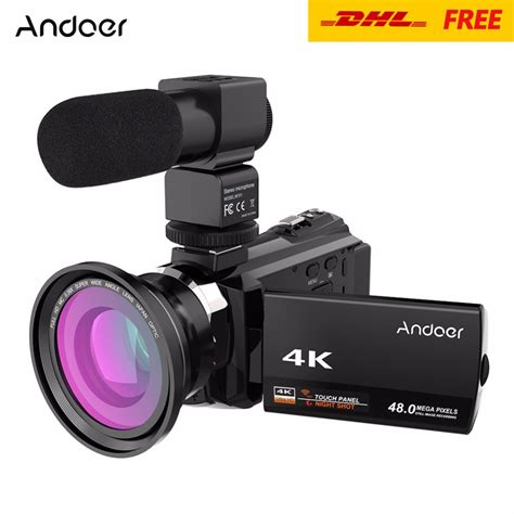 Wifi 4 K 4 K Wifi Kamera andoer 4k 1080p 48mp wifi digital camcorder recorder w 0 39x wide angle macro lens