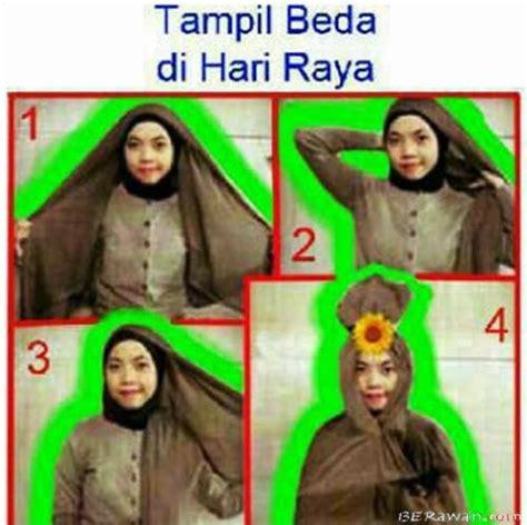 tutorial jilbab hari raya hijab style tutorial lucu cara memakai jilbab anak alay