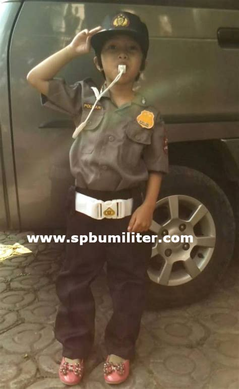 Kaos Stelan Anak Tni Ad baju stelan polwan anak celana panjang spbu militer