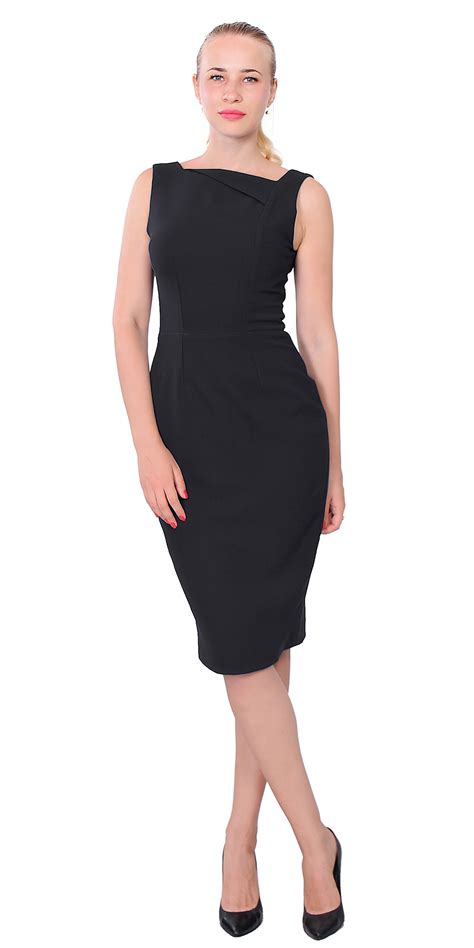 womens simple sleeveless work dress classy office