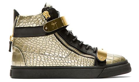 mens gold sneakers new giuseppe zanotti gold high top sneakers summer 2014
