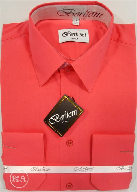 coral color shirt berlioni s shirt in coral color heidicollection