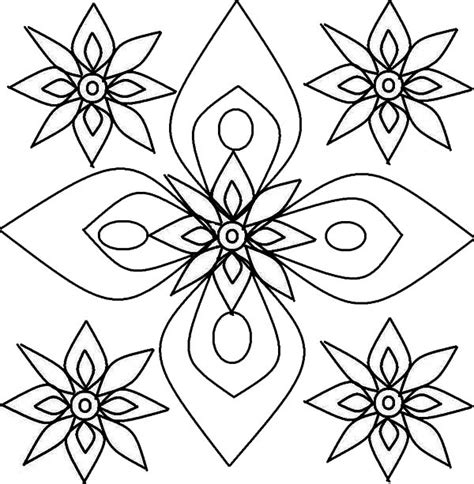 design flower coloring page 84 rangoli designs printable coloring pages rangoli