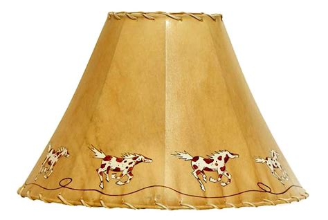painted rawhide l shades hand painted running pintos rawhide l shade the log