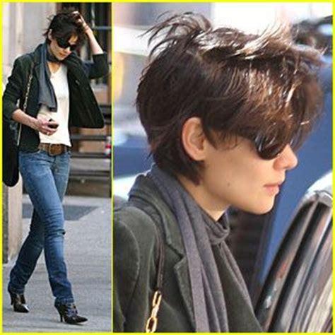 short hair women style 2017/2018 : katie holmes short hair