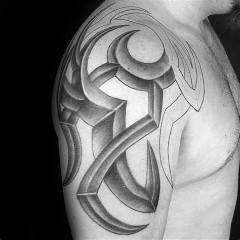 black and gray tribal tattoos 60 3d tribal tattoos for masculine design ideas