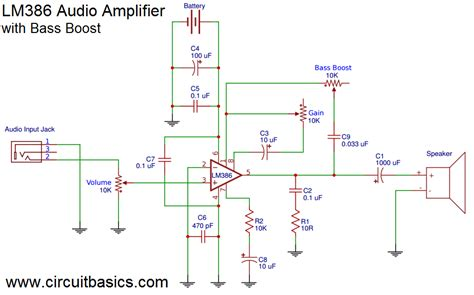 audio bass booster circuit diagram circuit and