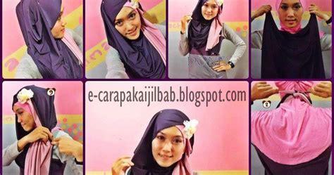 Jilbab Pashmina Two Tone No 5 cara pakai jilbab pashmina two tone cantik cara pakai jilbab
