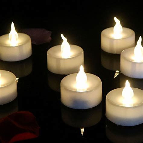 outdoor flameless tea lights with timer micandle 24 pcs flameless tea lights candles with timer