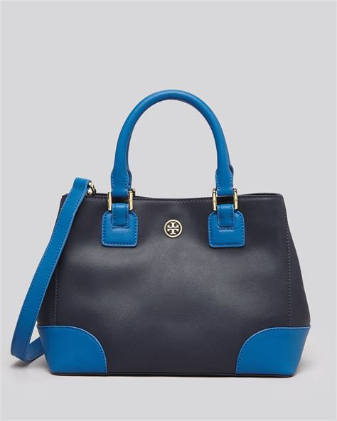 Burch Barcelet Sky Blue Ghw burch tote robinson colorblock mini square in blue navy evening sky lyst