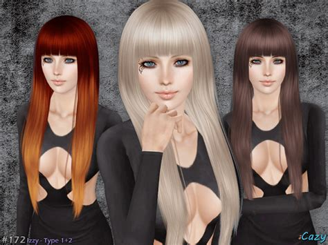 sims 3 resource hair cazy s izzy hairstyle set