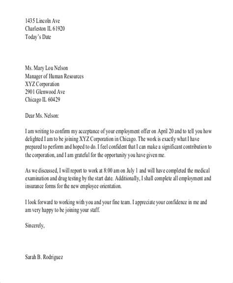 Confirmation Letter Wording Employee Confirmation Letter Format Pdf Cover Letter Templates