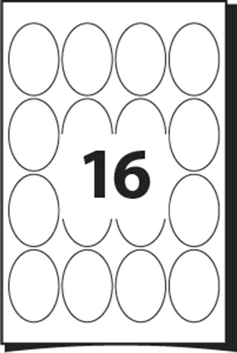 free labels template 16 per sheet oval labels template for labels