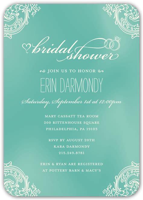 kleinfeld bridal shower invitations timeless wedding shower invitation kleinfeld paper