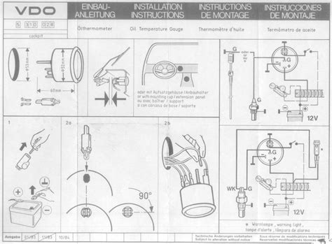 vdo tachometer wiring diagram 5 wire vdo wiring diagram