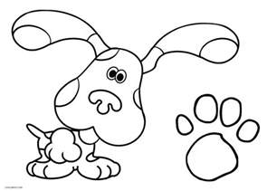 blues clues coloring pages free printable blues clues coloring pages for