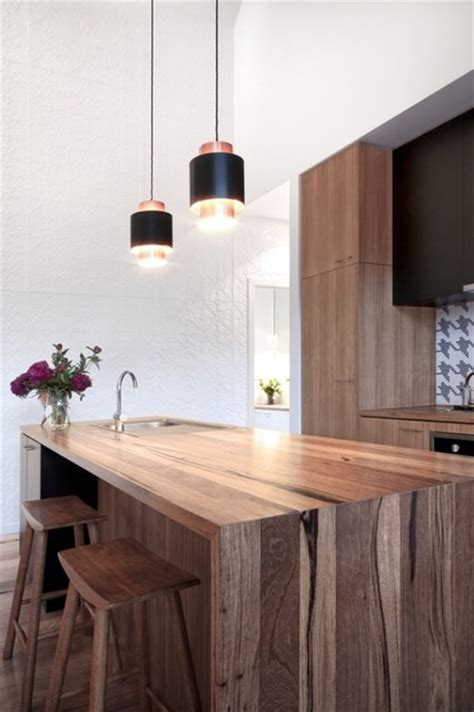 reclaimed wood benchtop recycled timber bench tops modern kitchen benchtops