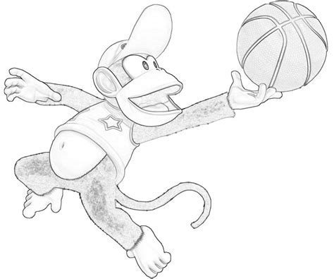 Donkey Kong Country Returns Diddy Kong Rocket Mario Diddy Kong Coloring Pages
