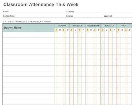 editable templates for teachers 36 general attendance sheet templates in excel thogati