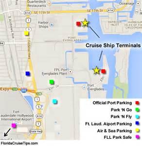 map of port everglades florida port everglades fort lauderdale cruise parking florida