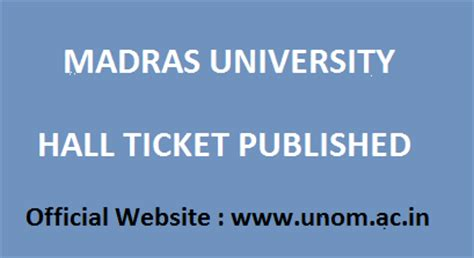 Ide Madras Mba Ticket by Madras Ticket 2018 Breaking News