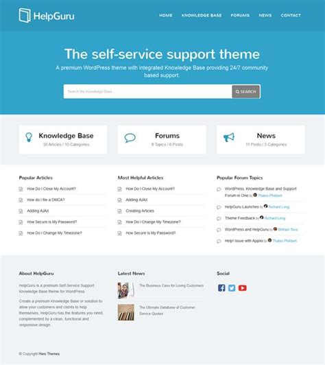 website templates for knowledge base helpguru is a premium self service support knowledge base
