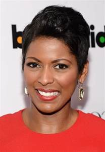 tamron haircut tamron hall short side parted black haircut for black