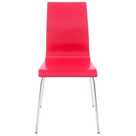 stuhl chrom stuhl vielseitige oust holz und chrom metall rot